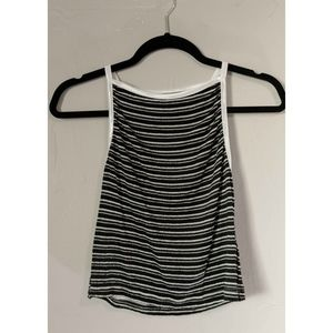 Urban Outfitters Black and White Striped Halter